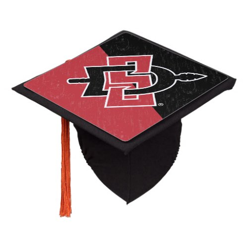 San Diego State University Color Block Distressed Graduation Cap Topper