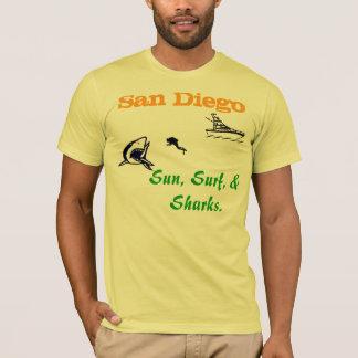 San Diego: Sun, Surf, and Sharks. T-Shirt