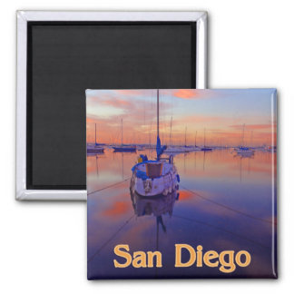 San Diego Sunrise 2 Inch Square Magnet