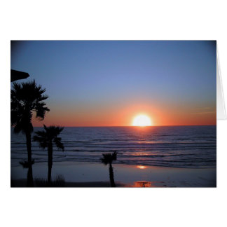 San Diego Sunset at Pacific Beach 2 Greeting Cards