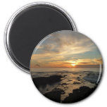 San Diego Sunset I California Seascape 2 Inch Round Magnet