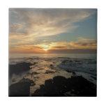 San Diego Sunset I California Seascape Ceramic Tile