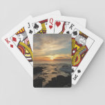 """San Diego Sunset I California Seascape Playing Cards<br><div class=""""desc"""">The west coast of the USA is known for its beautiful ocean sunsets. Here&#39;s the first in a series of three of a particularly lovely sunset near San Diego, CA. I&#39;m not sure if the exact town, but this beach was probably closest to La Jolla. Check out our store for...</div>"""