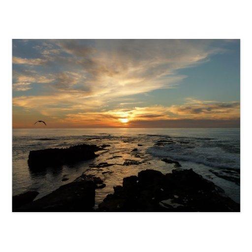 San Diego Sunset I California Seascape Postcard