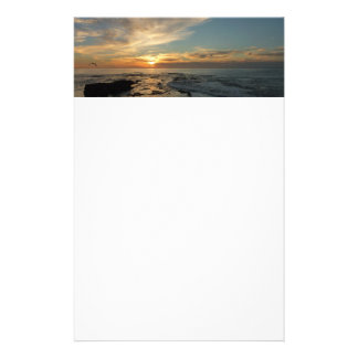 San Diego Sunset I California Seascape Stationery