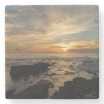 San Diego Sunset I California Seascape Stone Coaster