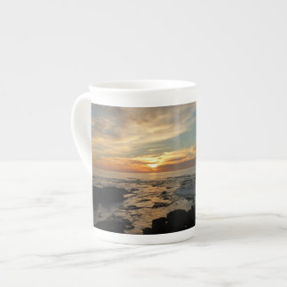 San Diego Sunset I California Seascape Tea Cup