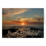 San Diego Sunset II Birthday Card (Blank Inside)