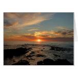San Diego Sunset II California Seascape Card