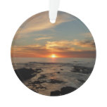 San Diego Sunset II California Seascape Ornament