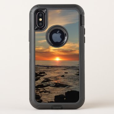 San Diego Sunset II California Seascape OtterBox Defender iPhone X Case