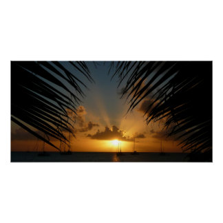 San Diego Sunset II California Seascape Poster