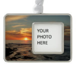 San Diego Sunset II Landscape Photography Silver Plated Framed Ornament