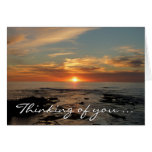 """San Diego Sunset II """"Thinking of You"""" Card"""
