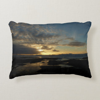 San Diego Sunset III Landscape Photography Accent Pillow