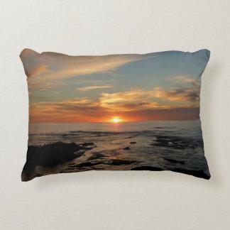 San Diego Sunset Landscape Photography Accent Pillow
