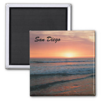 San Diego Sunset 2 Inch Square Magnet