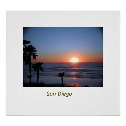 San Diego Sunset Poster