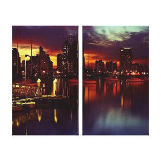 San Diego Sunset Skyline Canvas Print