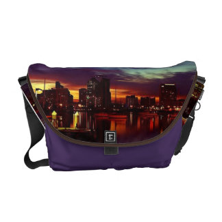 San Diego Sunset Skyline Messenger Bag