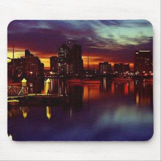 San Diego Sunset Skyline Mouse Pad