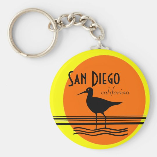 San Diego-Sunset Souvenir Keychain