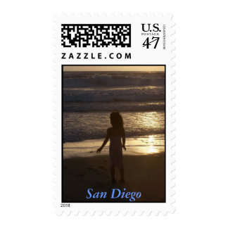 San Diego Sunset with Child Postage