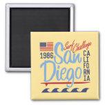 San Diego Surf Challenge 1986 2 Inch Square Magnet