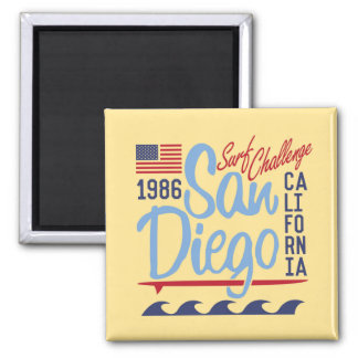 San Diego Surf Challenge 1986 2 Inch Square Magnet