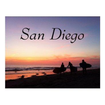 Beach Themed San Diego Surfers Postcard