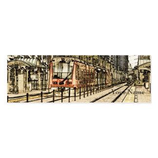 San Diego Train Sketch Mini Business Card