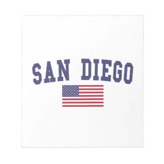San Diego US Flag Notepad