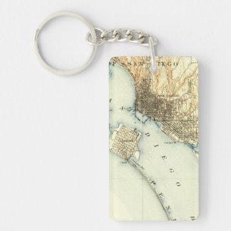 San Diego Vintage Map Keychain