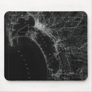 San Diego Vintage Map Mouse Pad