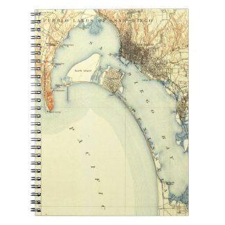 San Diego Vintage Map Notebook
