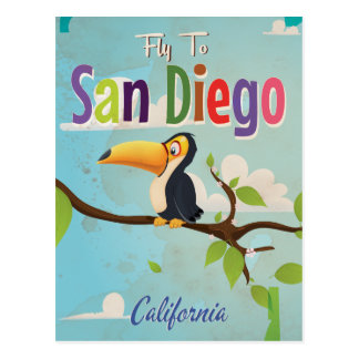 San Diego Vintage vacation Poster Post Card