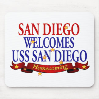 San Diego Welcomes USS San Diego Mouse Pad