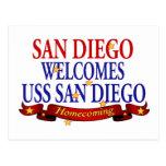 San Diego Welcomes USS San Diego Postcard