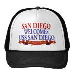San Diego Welcomes USS San Diego Trucker Hat