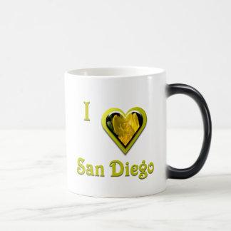 San Diego -- with Yellow Flower Magic Mug