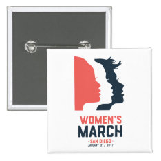 San Diego Women's March Button at Zazzle