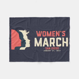 San Diego Women's March Fleece Blanket