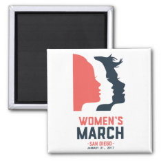 San Diego Women's March Magnet at Zazzle