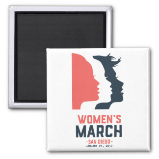 San Diego Women's March Magnet