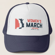 San Diego Women's March Trucker Hat at Zazzle