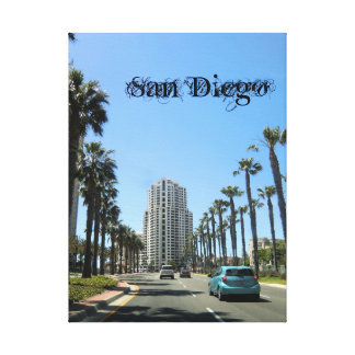 San Diego Wrapped Canvas