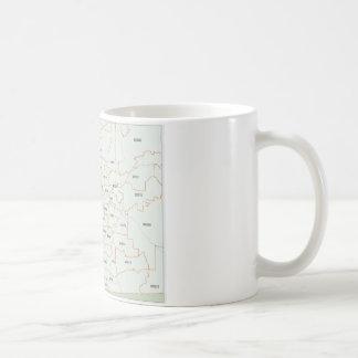 San Diego Zip Code Map Coffee Mug