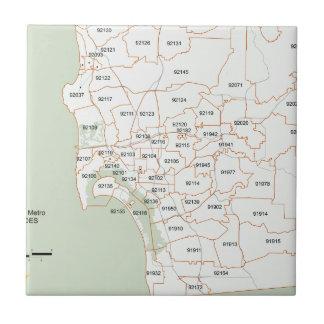 San Diego Zip Code Map Tile