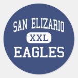 San Elizario - Eagles - High - San Elizario Texas Round Sticker