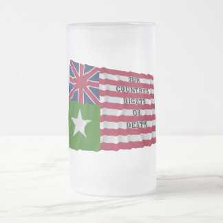 San Felipe Flag Frosted Glass Beer Mug
